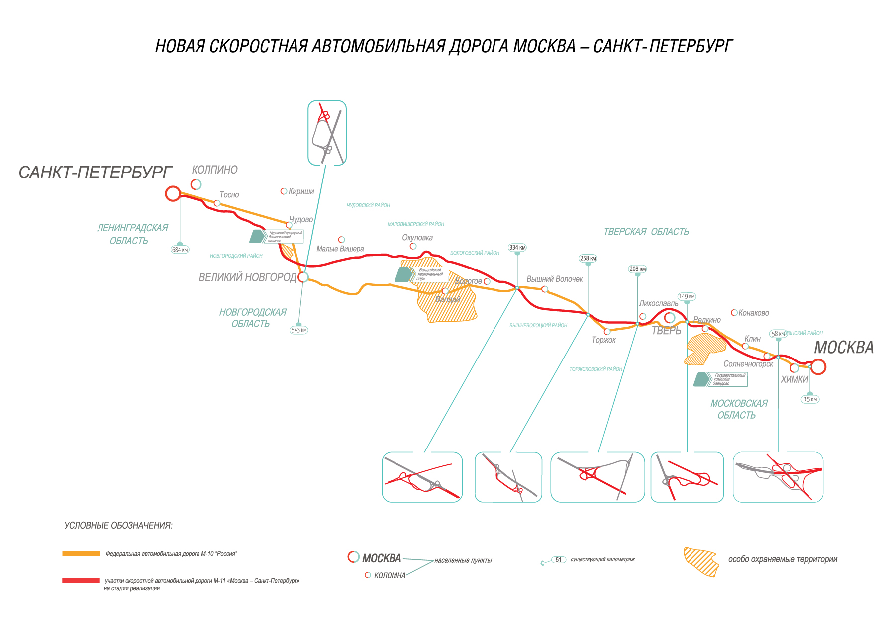 Схема трасса москва питер фото 713